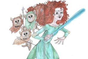Brave meets Star Wars by DitaDiPolvere