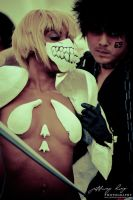 Halibel and Hisagi : Bleach by jeffreyhing