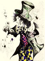 Hatter with Tea by LordColinOneal