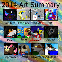 Art summary 2014 by Foxlover4218