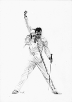 Freddy Mercury (Portrait) by DesignerMF