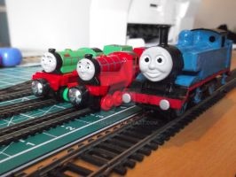 Thomas, Mike and Rex by TheblueV3