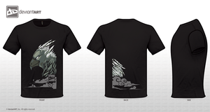 Gryphon mythical creature shirt design by Capukat