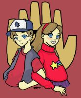 Dipper and Mabel by Xantheonly567