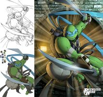 TMNT Leonardo (2014) by RecklessHero