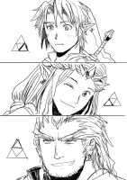 Triforce Babies by warningyou