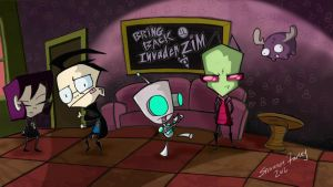 Bring Back Invader Zim painting by AkatsukiMember101