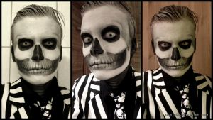 Gangster Skeleton Make-up by Becken95