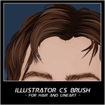 Hair and line art brush for AI by ChewedKandi