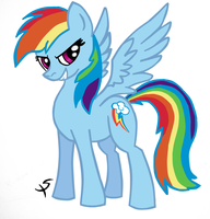 Rainbow Dash In COLOR by xscaralienx