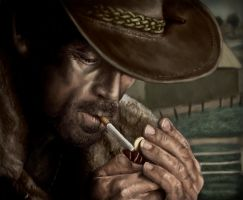 Marlboro Man-Digital Painting by nortagem