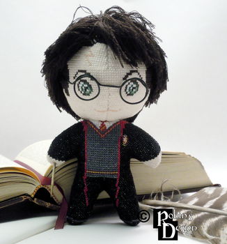 Harry Potter 3D Cross Stitch Doll by rhaben