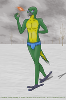 Avian Anthro Auction 3: Green/Yellow Macaw by PalmTree-777
