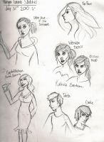 Hunger Games Doodles by wondernez