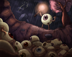 There can only be one eyeball by Ric-M