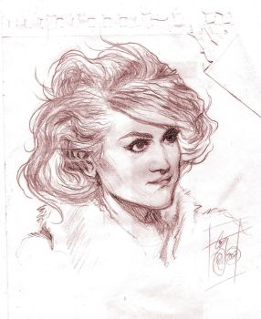 Portrait sketch 1 by FrodaTriboulet