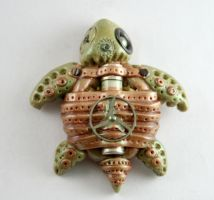 Steampunk Inspired Sea Turtle by kilpi