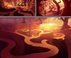 Golden Cave by Jasinai