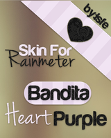 Bandita Heart Purple by isfe skin for rainmeter by Isfe