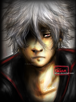Gintama - Sakata Gintoki - Stronger than ever by Elilian