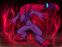 Zoroark by RinaTiger-Art