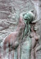 Preseren Monument, detail. by not-in-my-lifetime