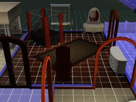 Sims 3 kh house axel and larxene's room by TheeKozakura