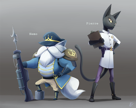 20,000 Cats Under the Sea: Character Designs by DragginCat