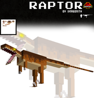 JurassiCraft: Raptor by Dragonith