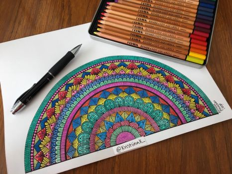 Colorful half mandala by KristiinaKaunisaho