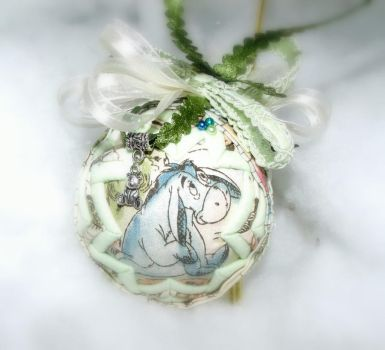 Eeyore handmade quilted ornament 3 by Chrissie1370