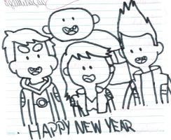 Bravest Warriors wishes Happy New Year by MarcosLucky96