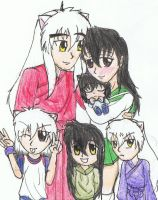 Inuyasha's family by Paiggy123
