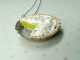 Miniature Food Jewelry Lemon Meringue Pie Necklace by kawaiibuddies