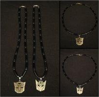 Transformers Autobots and Decepticons Necklace - 2 by RebelATS