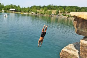 Cliff Diving by Stephen-Coelho