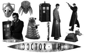 Doctor Who Photoshop Brush set by IrishHippie