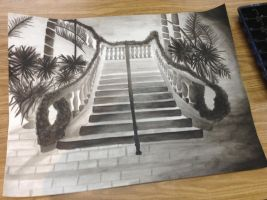 Ink Wash Staircase by 5cat5cat