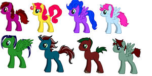 Adoptable Ponies #1 by sailorcupcake