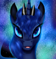 Luna Portrait by Crazyaniknowit