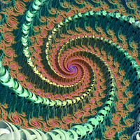 Mandelbrot Spiral by Aexion