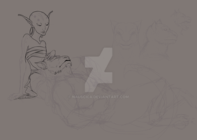 Gen and Yvonne. Never to be finished. by Nauscica