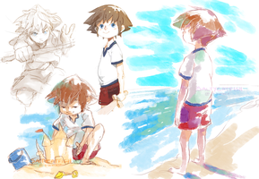KH: Baby Sora Doodles by saltycatfish
