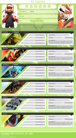Pokemon Team Template PSD by Jose1208