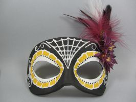 Day of the Dead Reverse Yellow and Purple mask by maskedzone