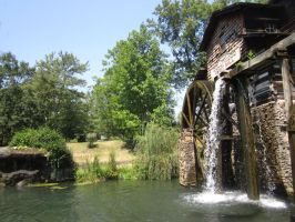 Gristy Mill and Water by FishBoneMania
