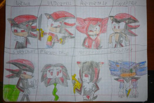Undertales AU Forms 2-Shadow The Hedgehog by raulhedgebomber