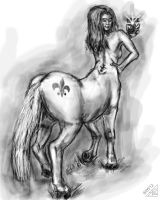Centaur taking a Cell Phone Picture by rawjawbone