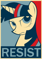 Twilight sparkle resist poster by pewdiedash