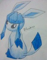 Glaceon 2 -Coloured by Bluekiss131